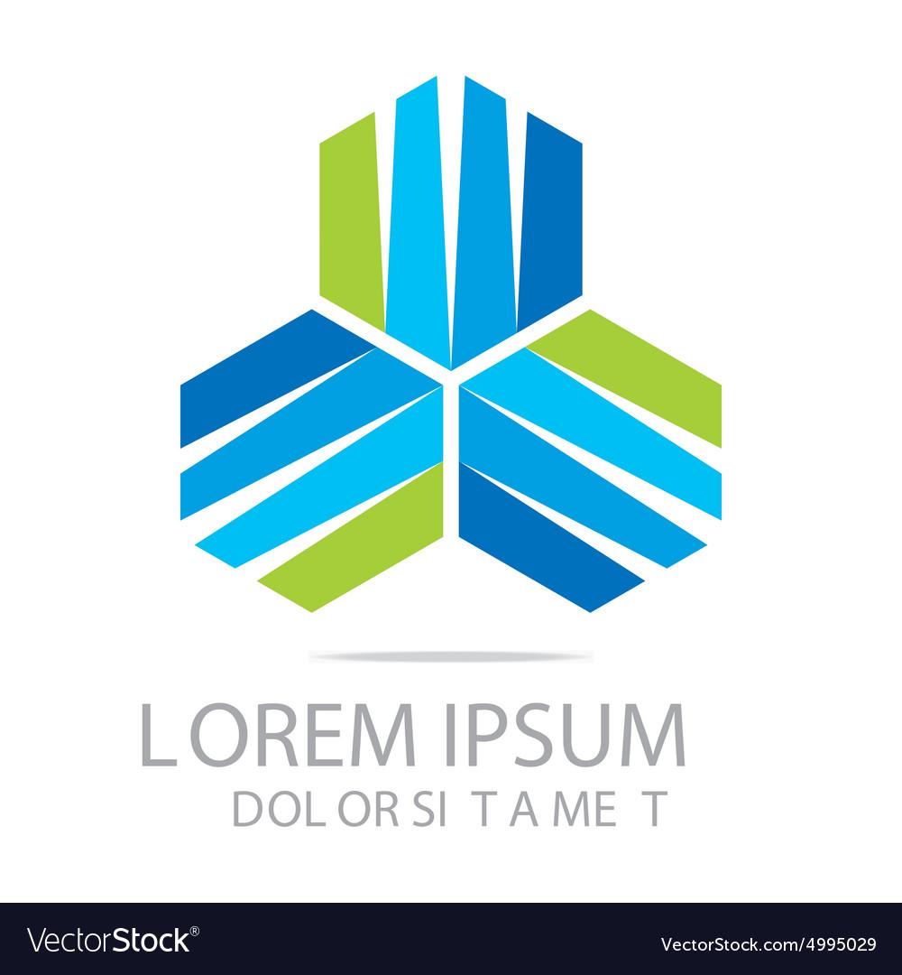 Business creative star emblem logo design icon