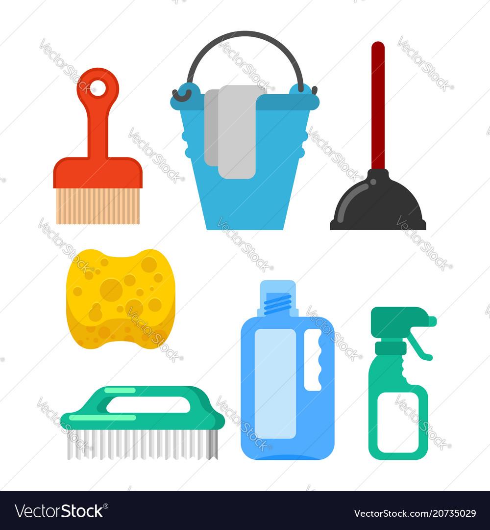 Cleaning accessory washing brush and plunger