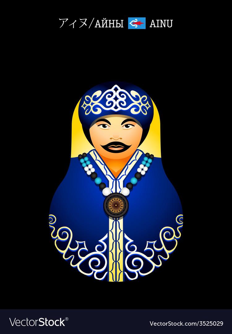 Matryoshka Ainu girl