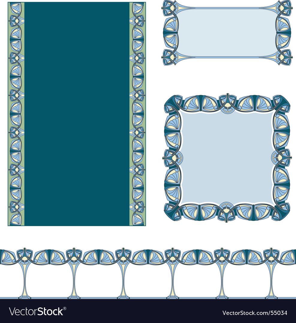 art nouveau border royalty free vector image vectorstock