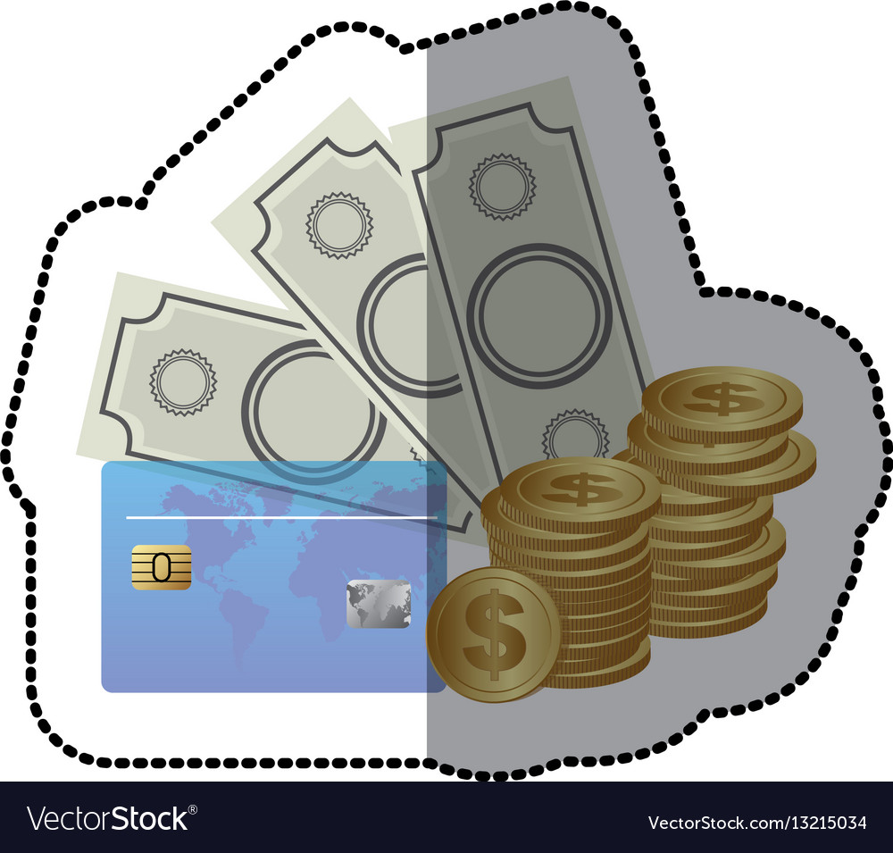 Bills coin and cash icon stock icon