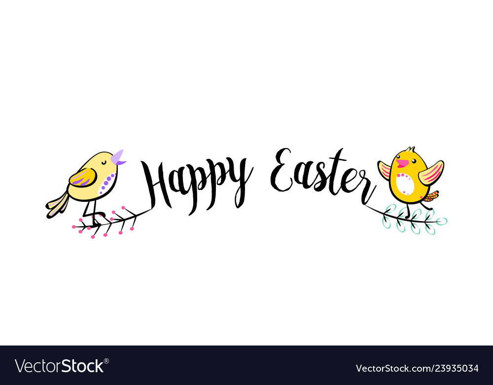 Happy easter greeting handwritten text background