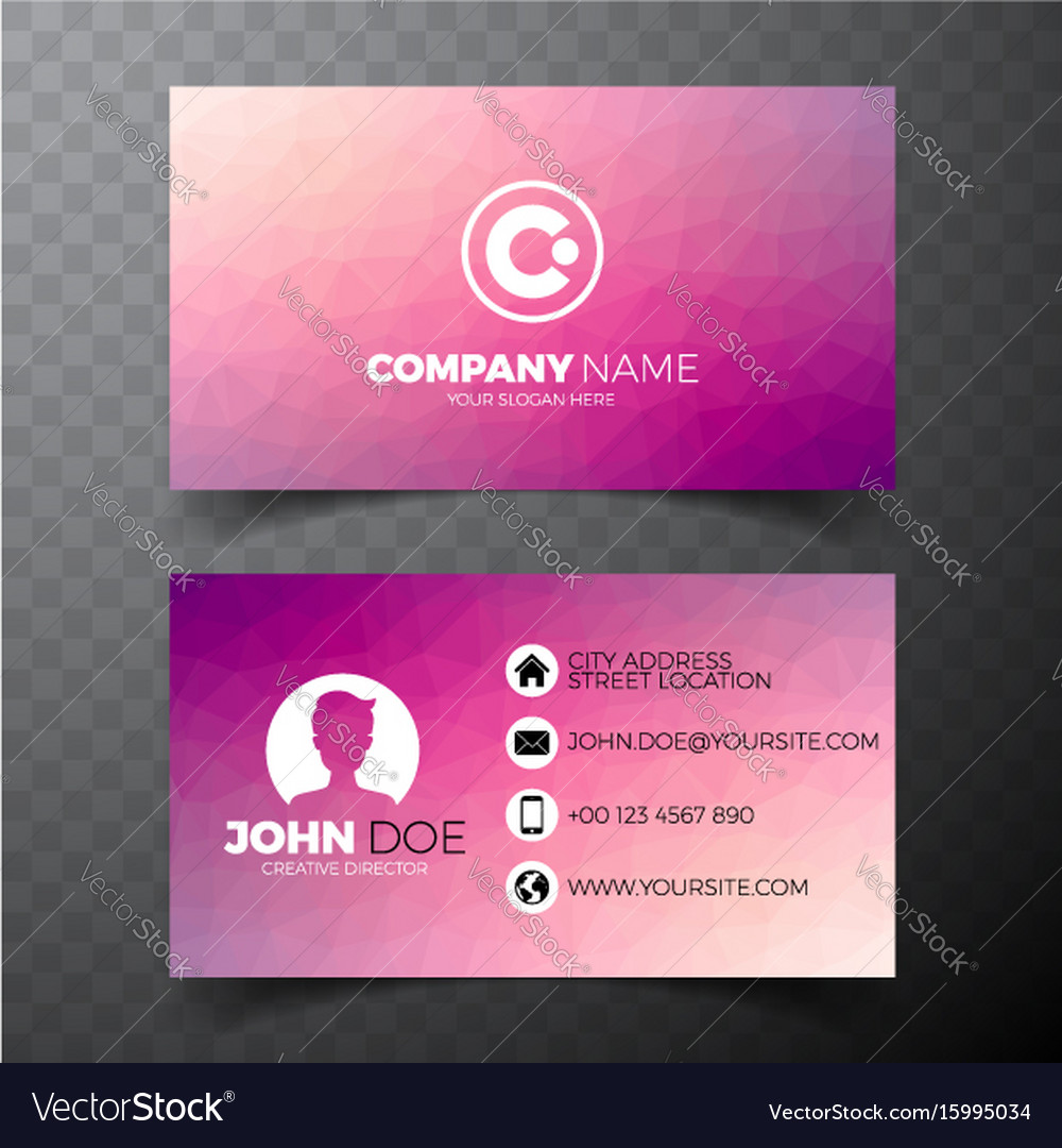 Modern abstract business card design template