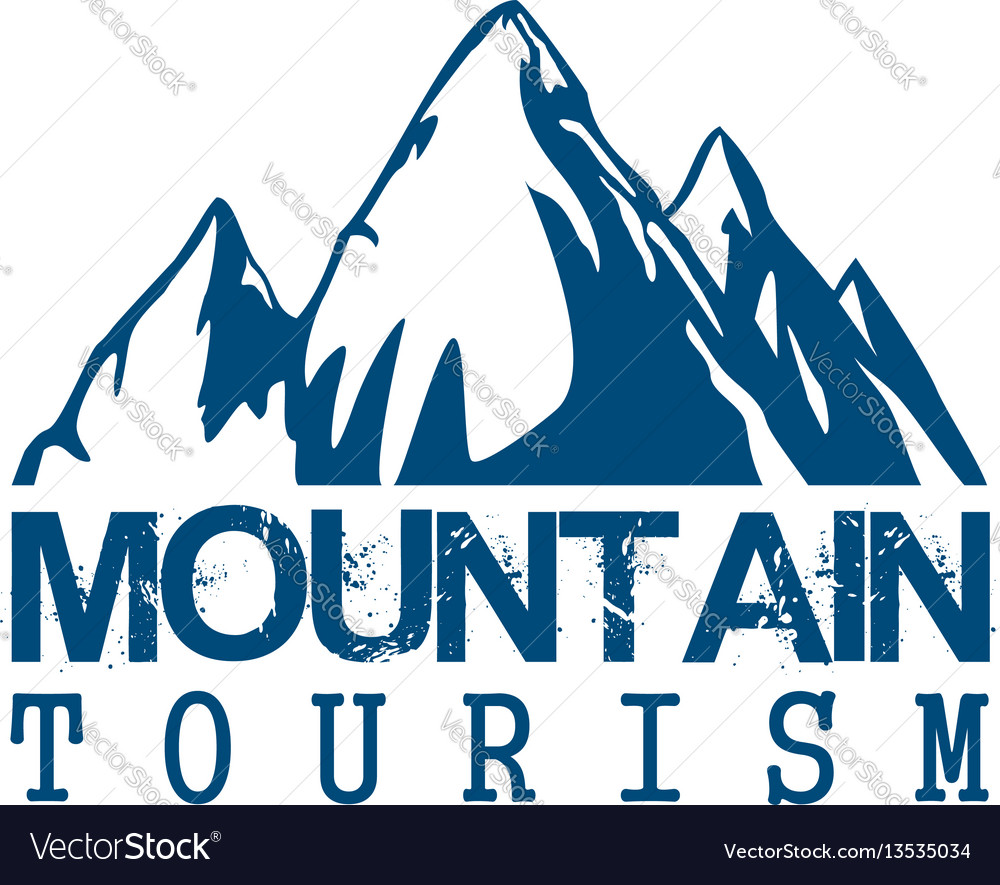 Mountain tourism sport icon