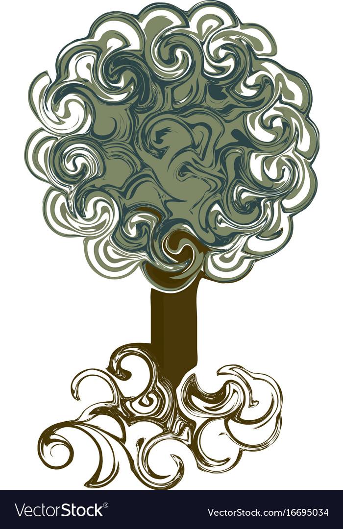 Vintage tree in twists