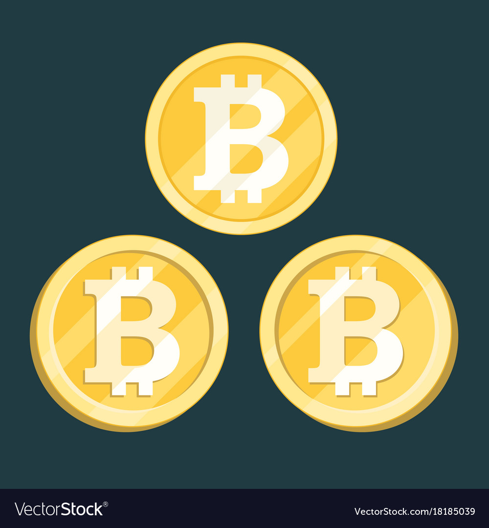 Bitcoin digital crypto currency sign