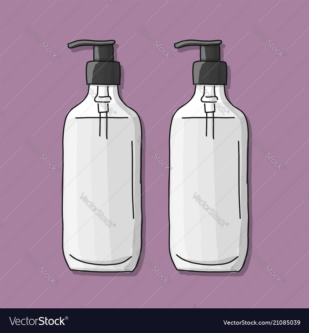 Bottle mockup sketch for your design