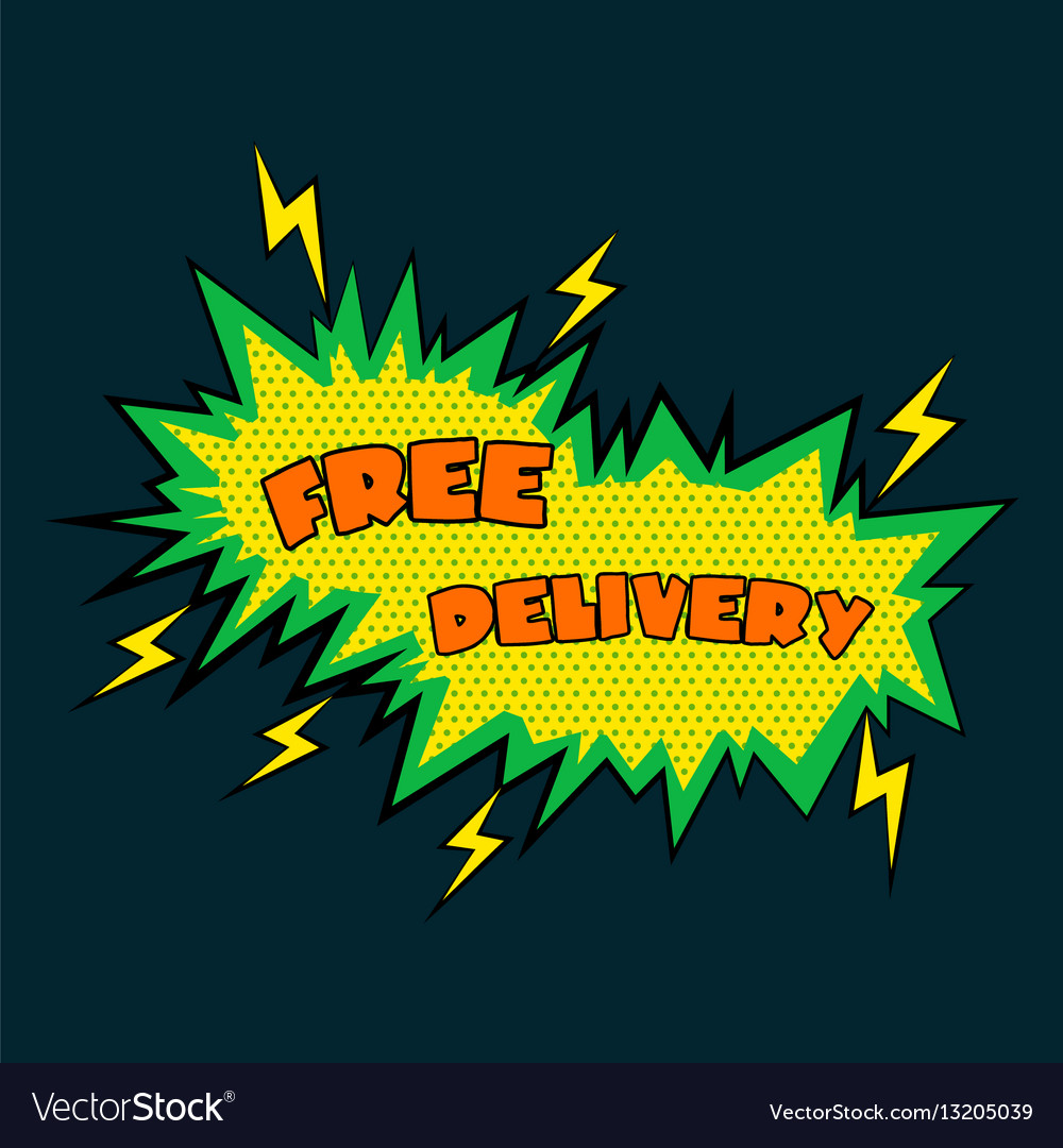 Comic sound effects free delivery in pop art