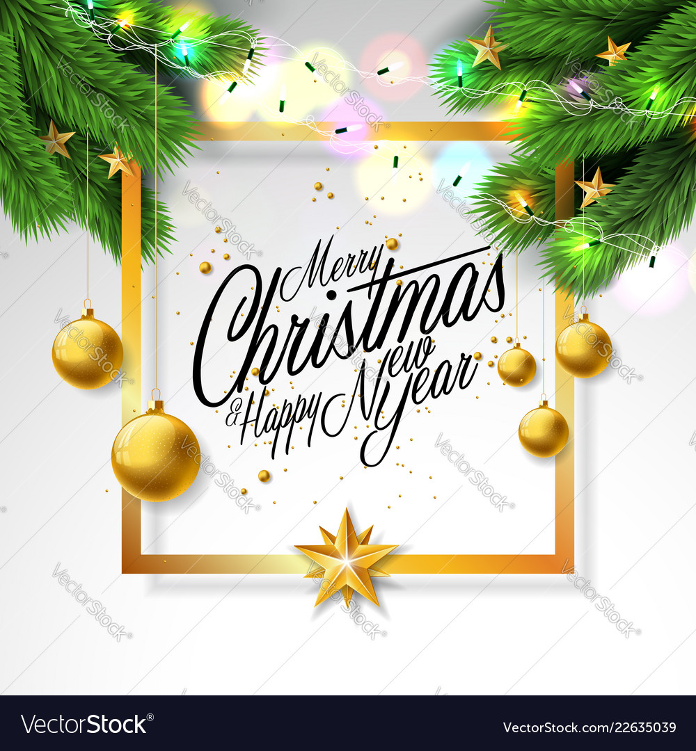Merry christmas on white background
