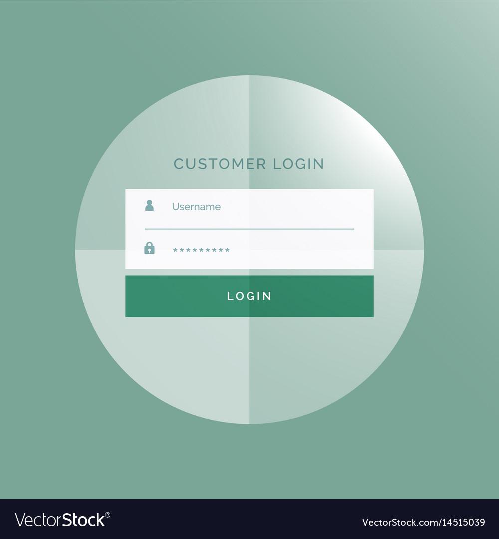 Modern login form ui design