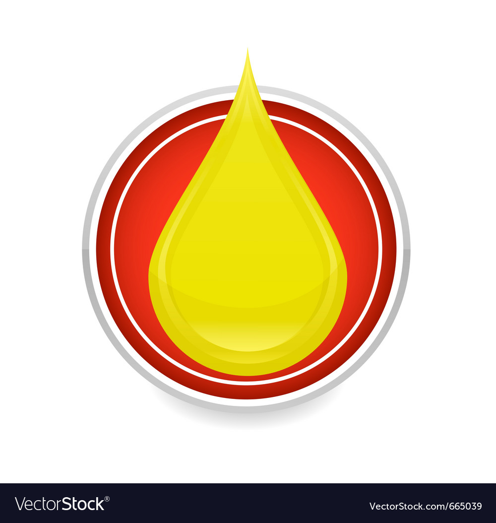 Oil drop symbol