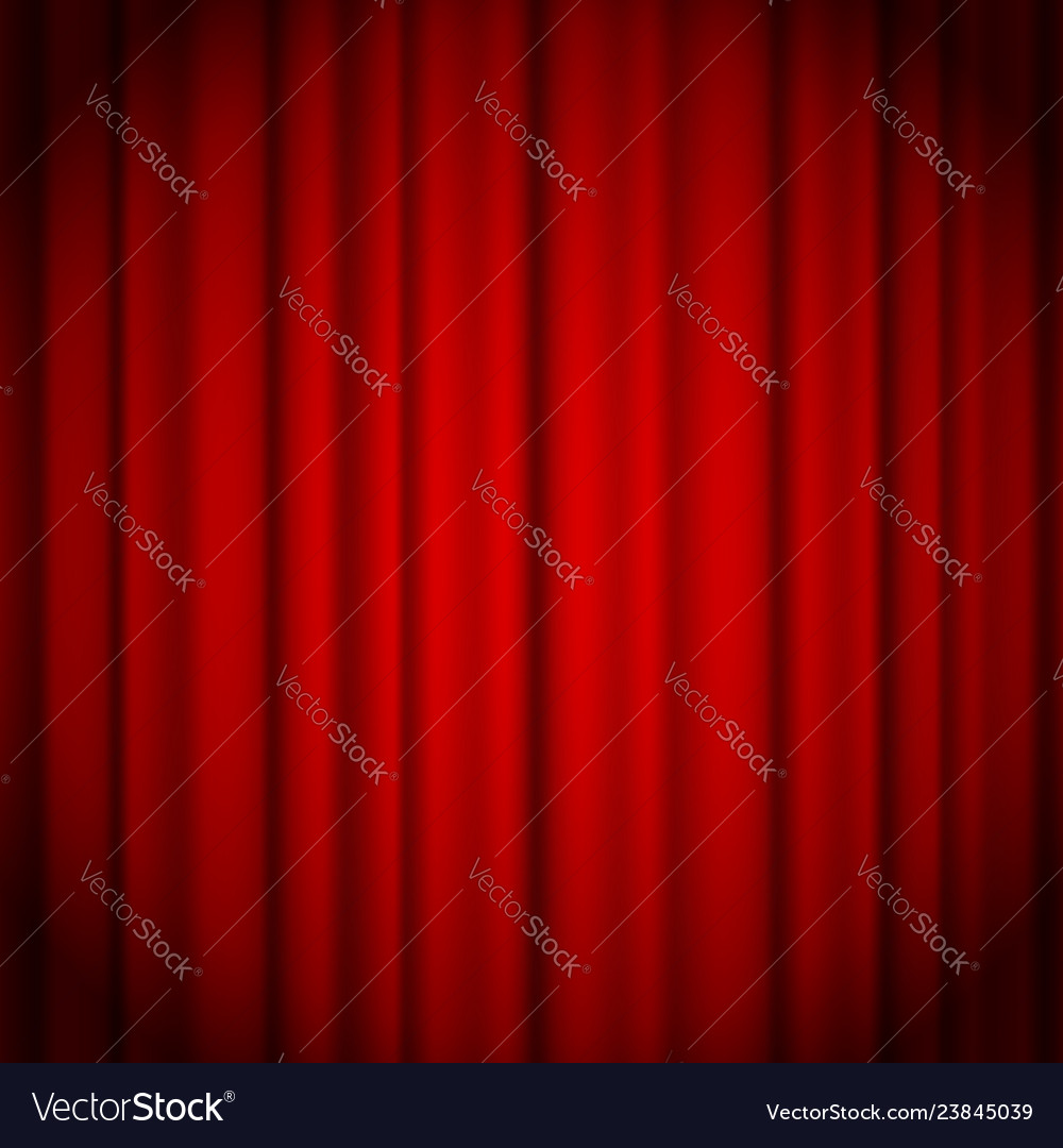 Red curtains background illuminated by a beam of