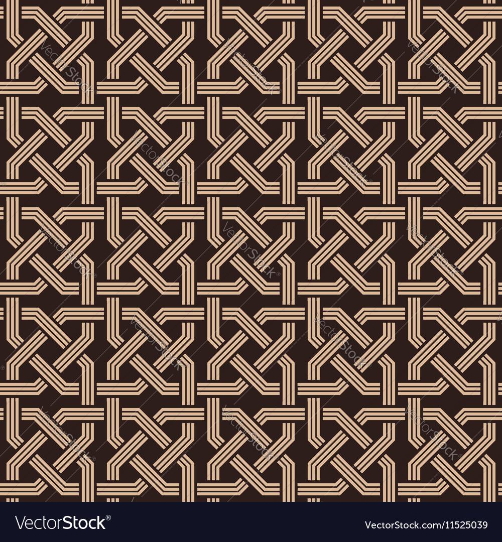 Seamless pattern of knotting ornaments