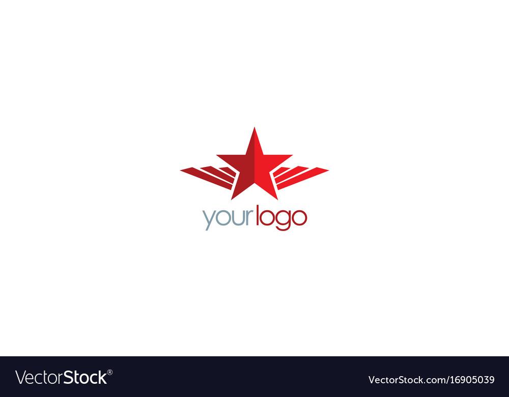 Star wing emblem logo