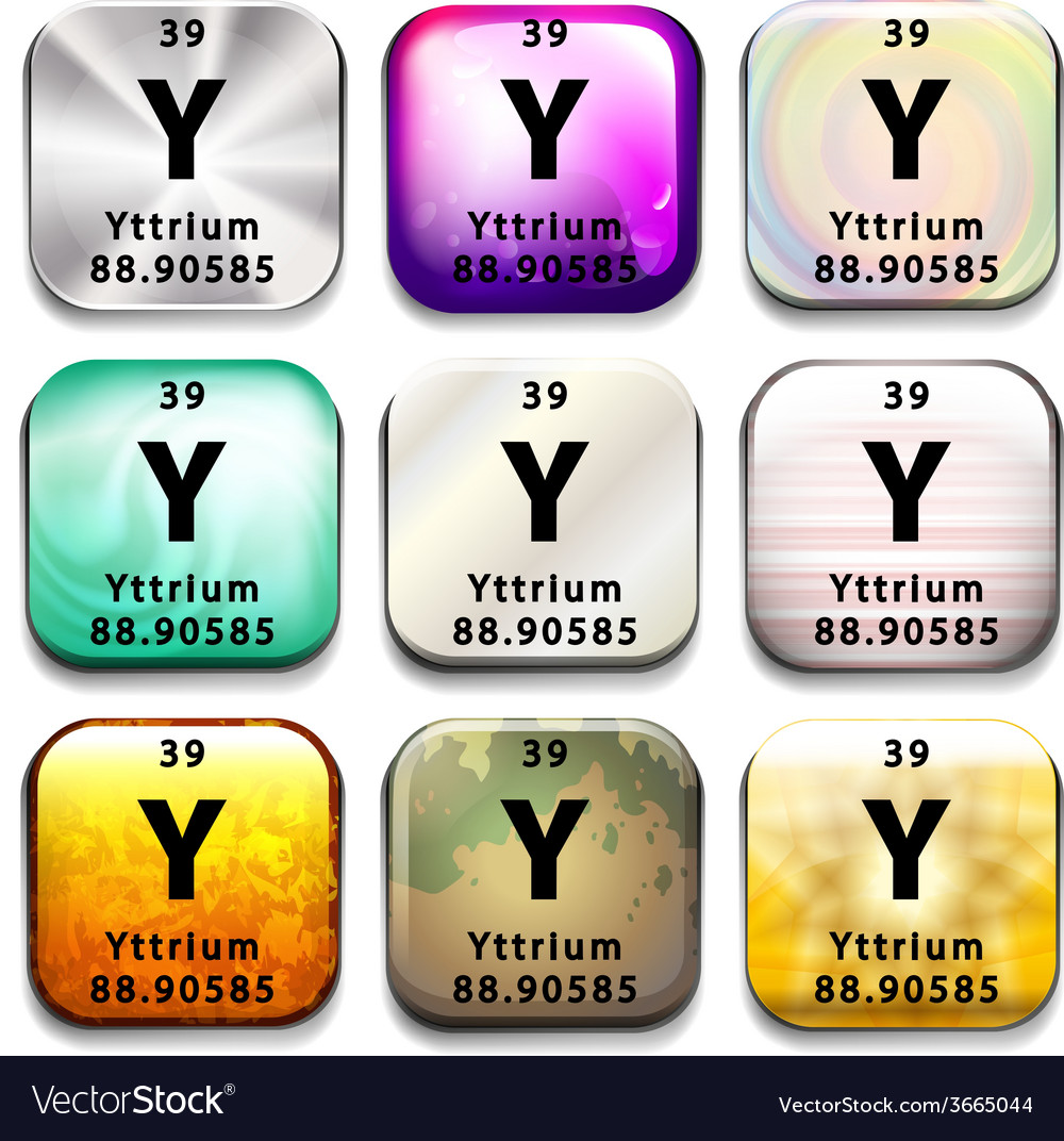 A periodic table showing the yttrium royalty free vector a periodic table showing the yttrium vector image urtaz Images