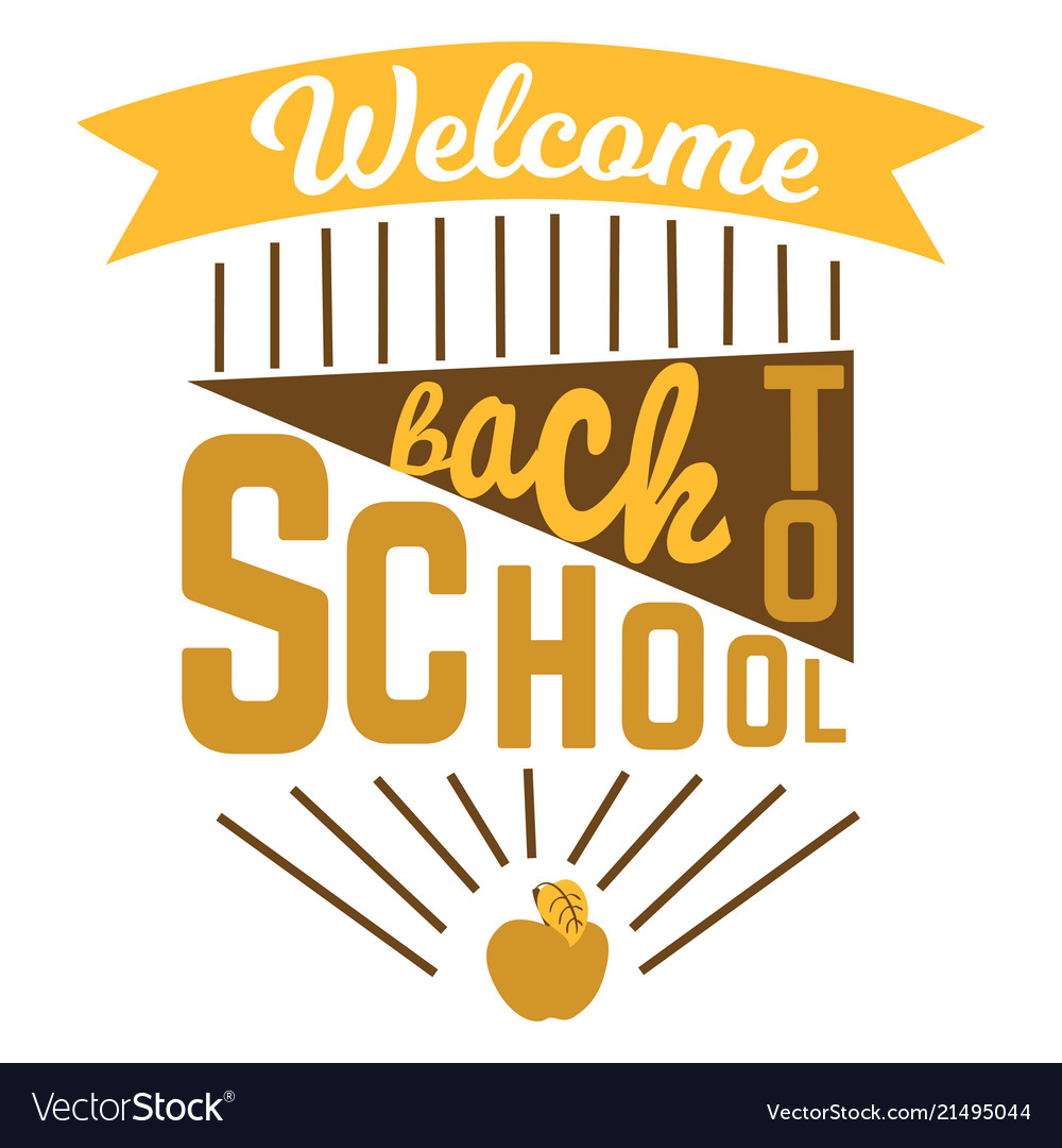 Back to school colorful doodle lettering sign of