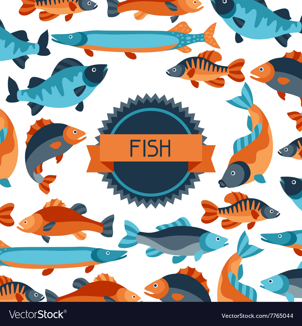 Background with various fish Image for