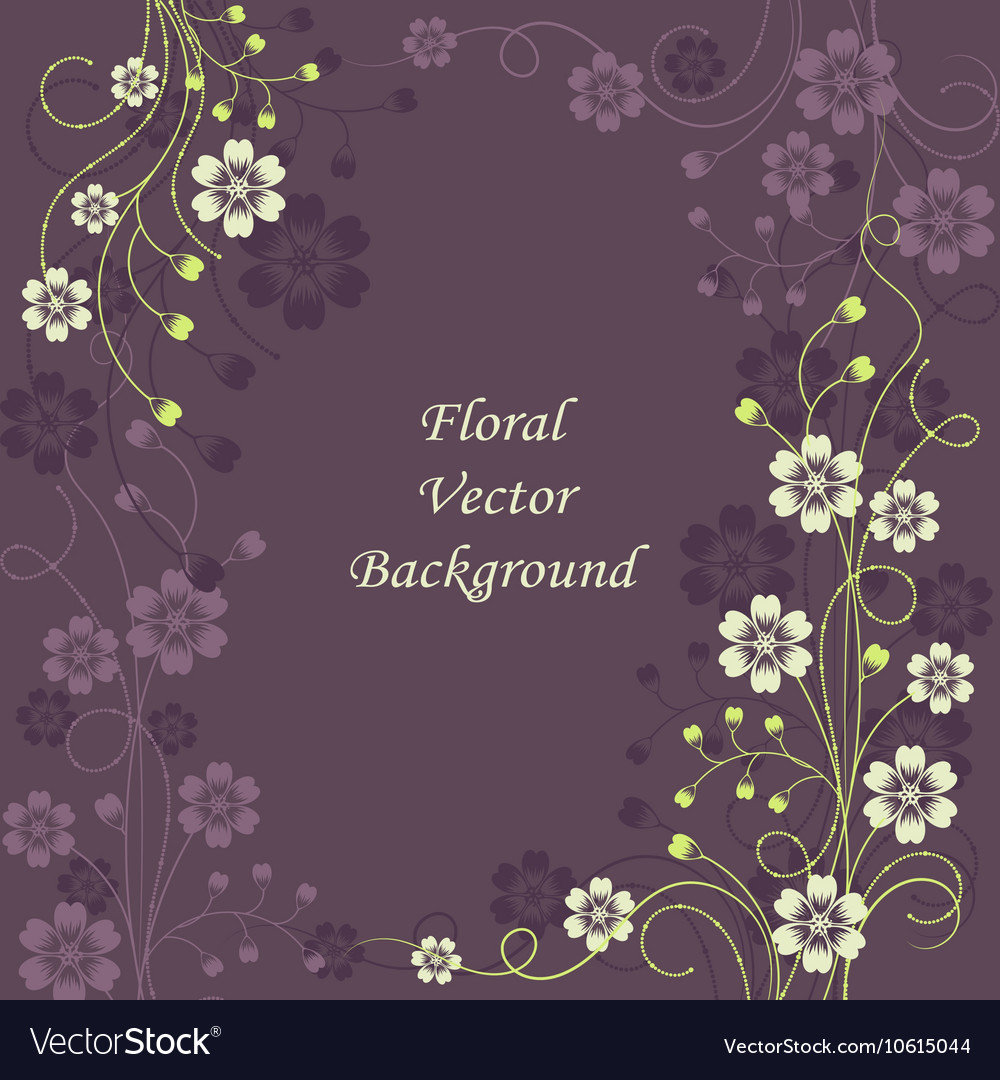 Beautiful floral pattern on violet background