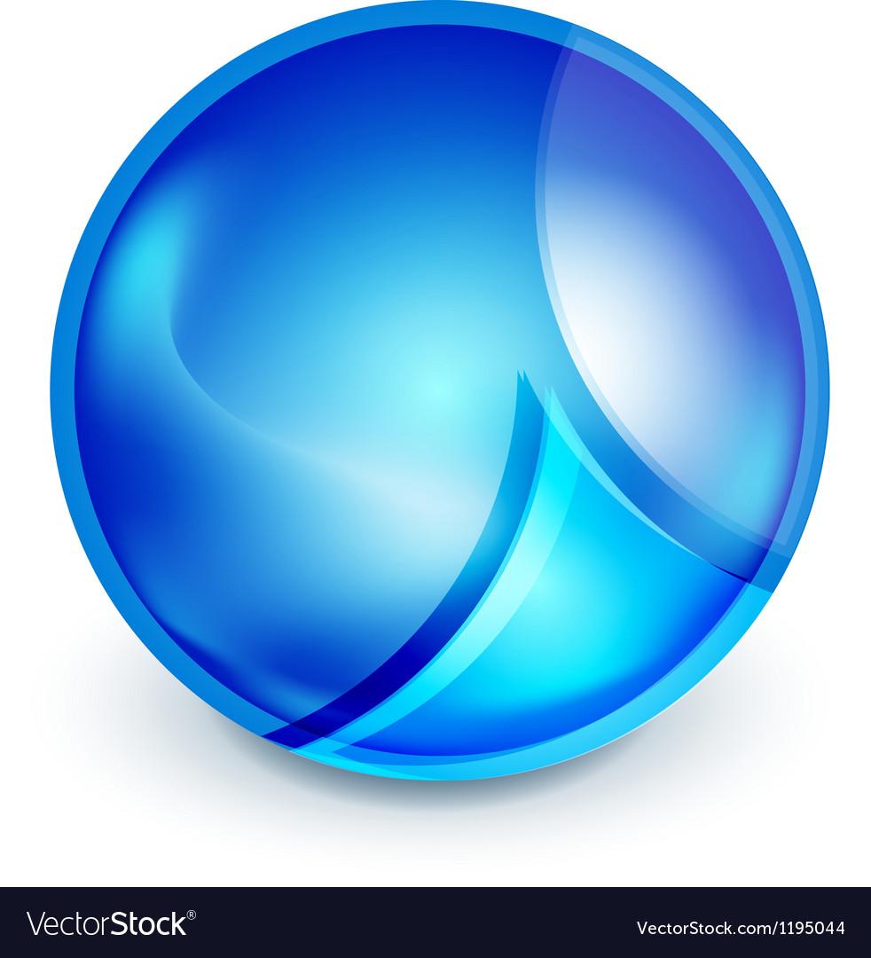 Blue hi-tech globe symbol