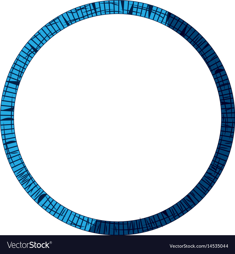 Blue tribal border decoration free spirit style vector image