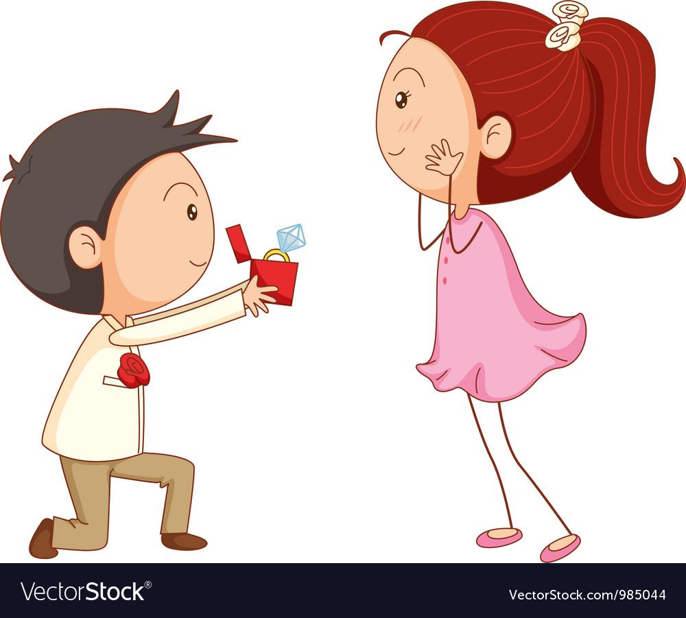 Cartoon Marriage proposal