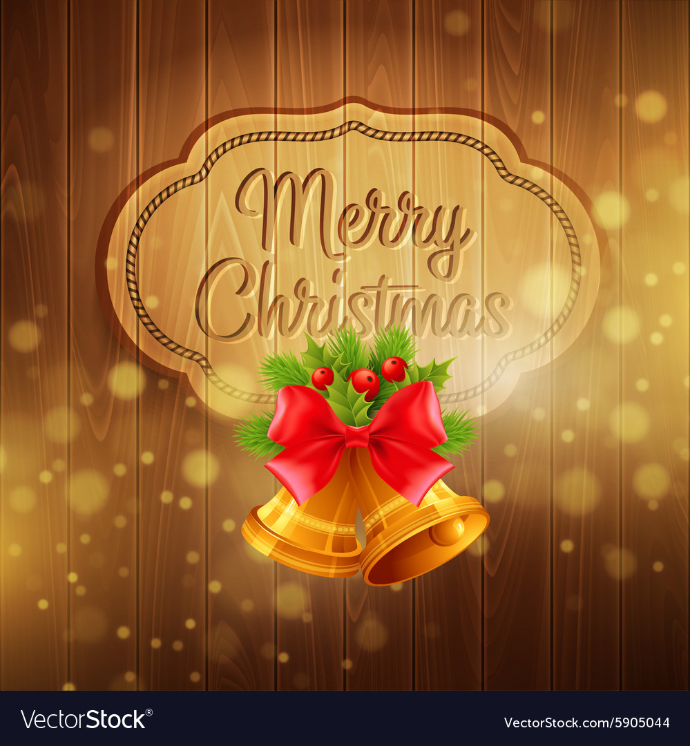 Christmas decoration on the wooden background