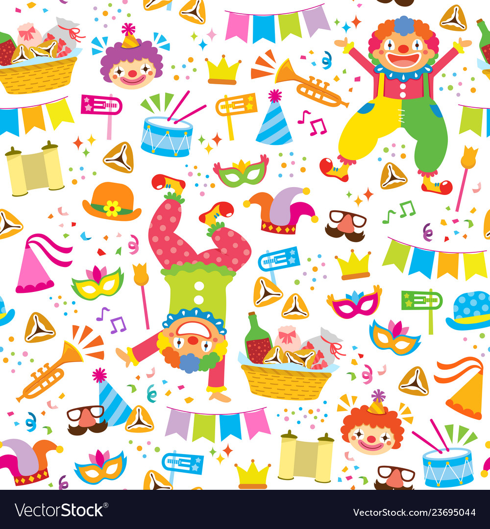 Colorful purim pattern