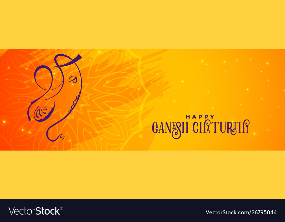 Creative ganesh chaturthi banner design