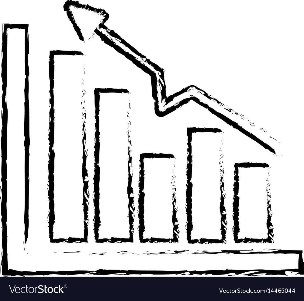 Figure business statistic data growing diagram