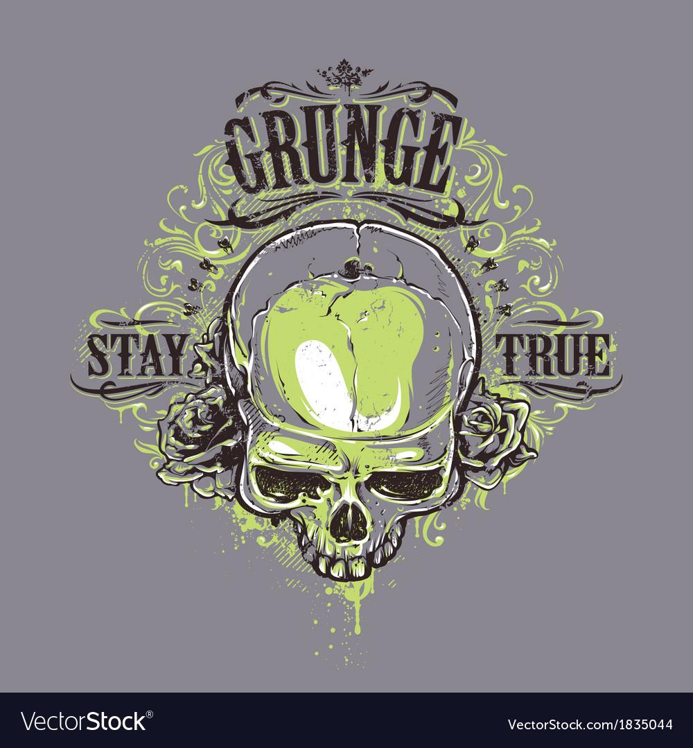 Grunge Skull Print 2