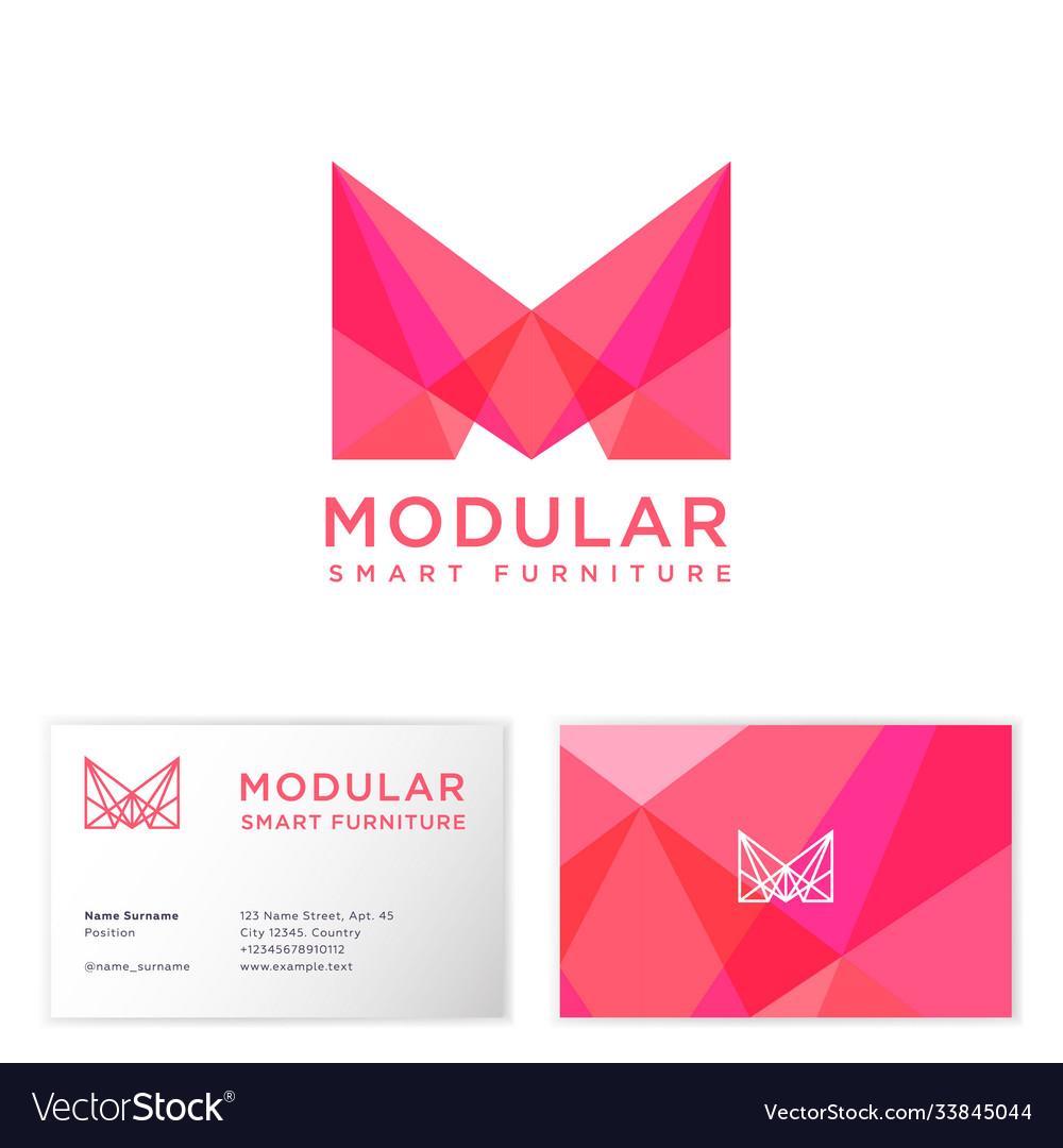Modular logo furniture shop m crystal monogram
