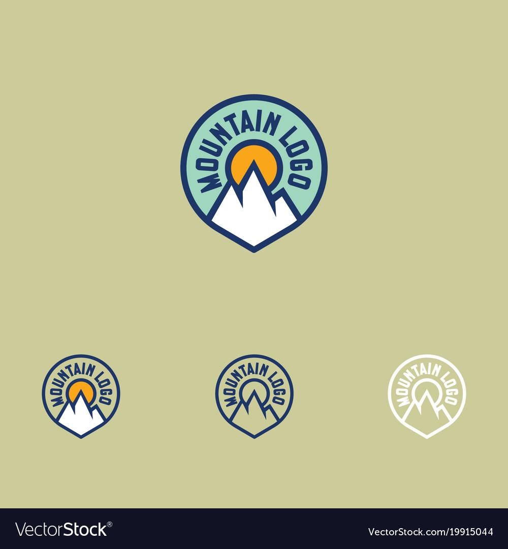 Mountain logo sports facilities emblem
