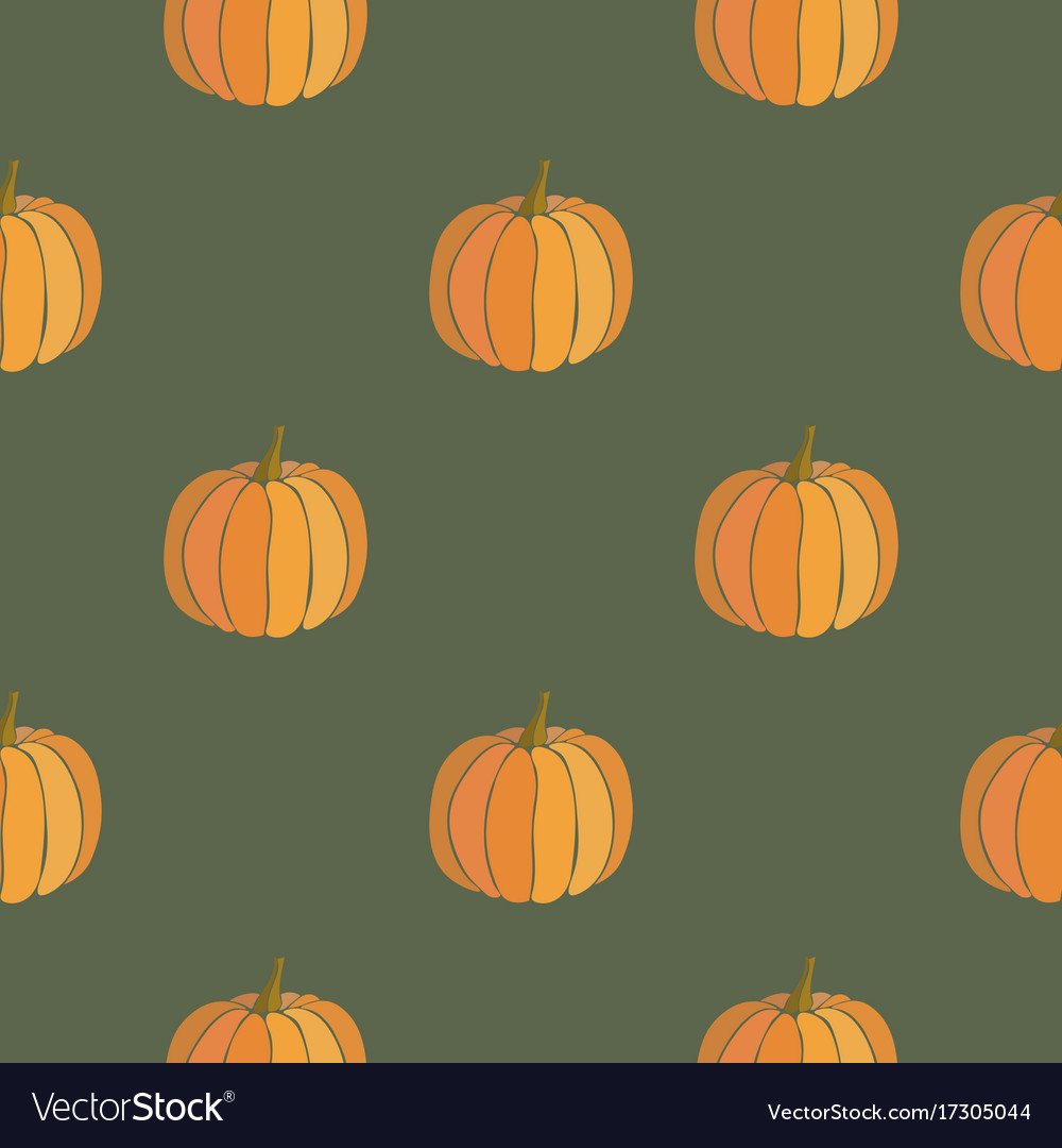 Pumpkin seamless pattern thanksgiving background