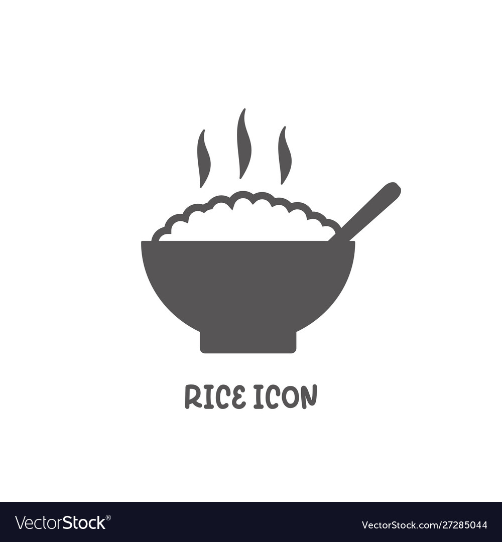 Rice icon simple flat style