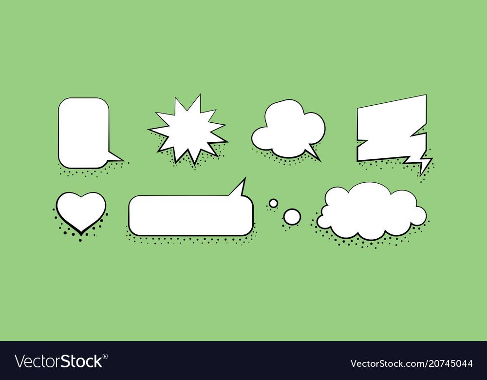 Set speech bubble design template