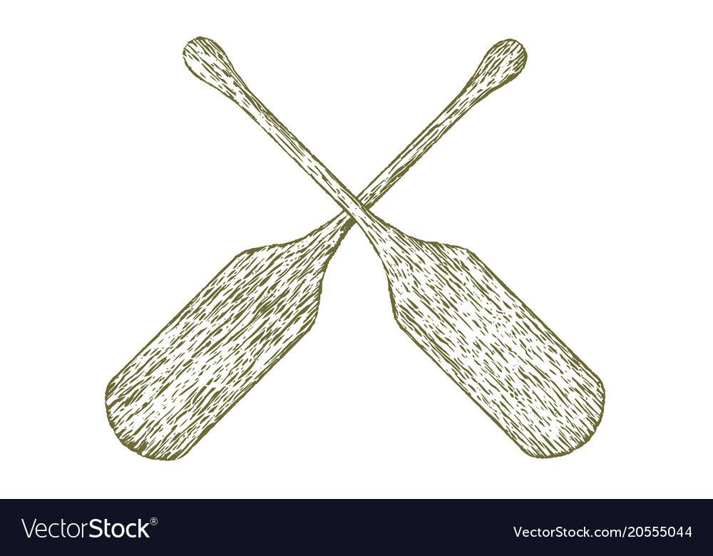 Woodcut paddles