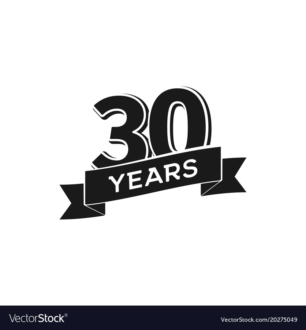 30 years anniversary logotype isolated