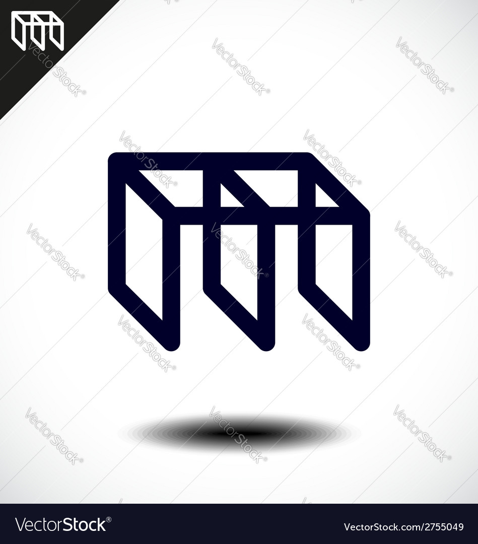 Abstract Letter M Icon