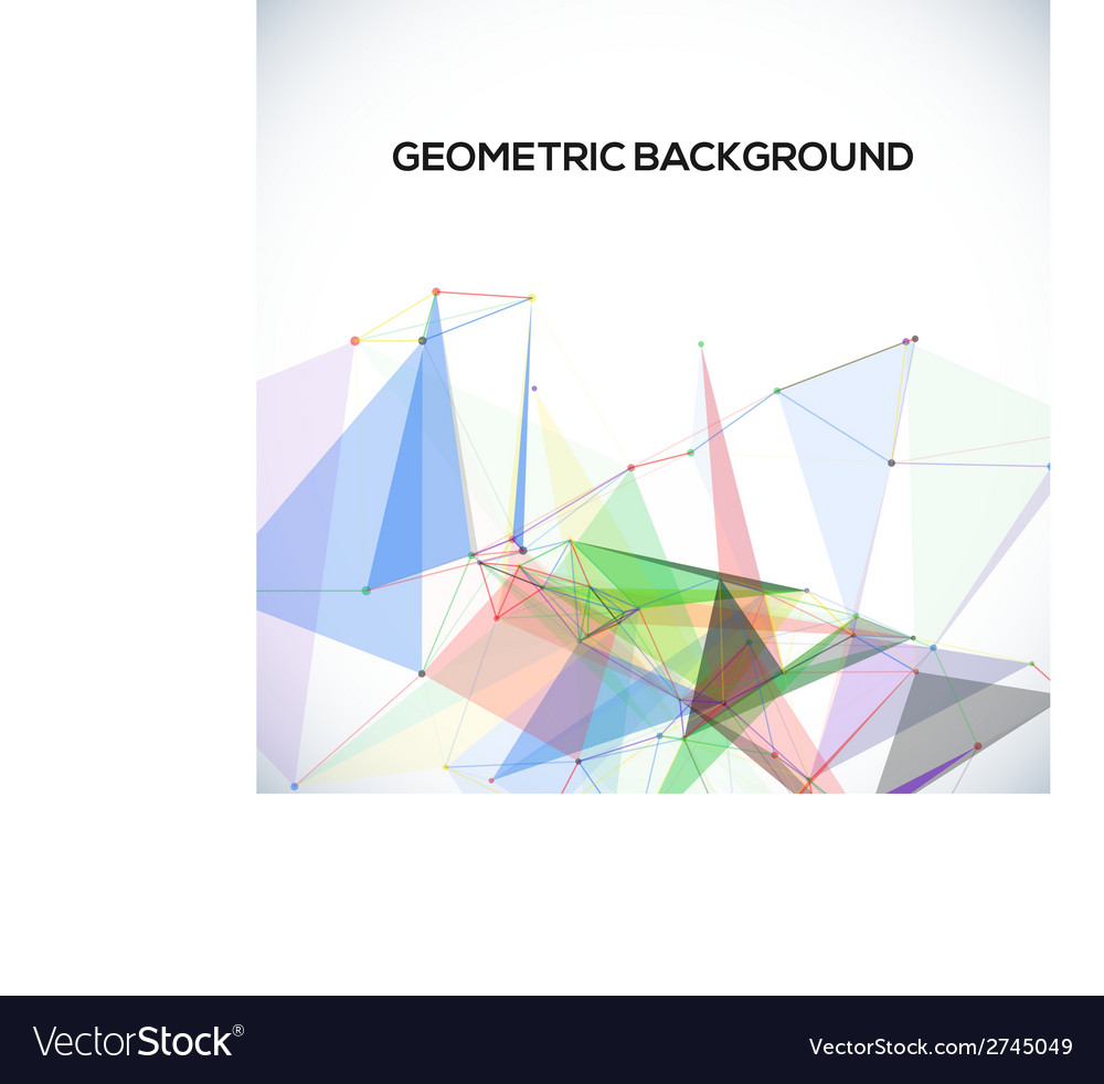 Background with polygonal abstract shapes circles