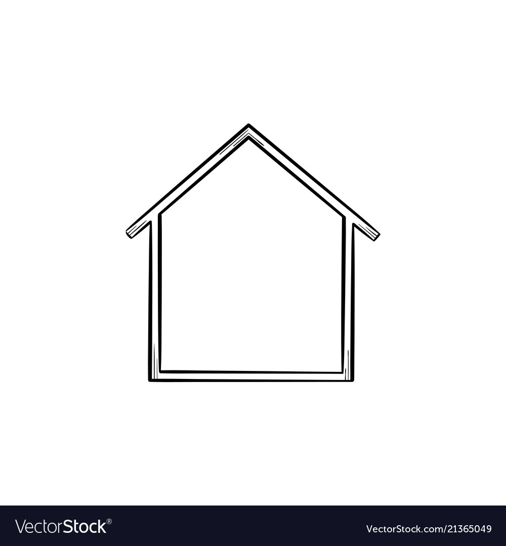 House icon hand drawn outline doodle icon