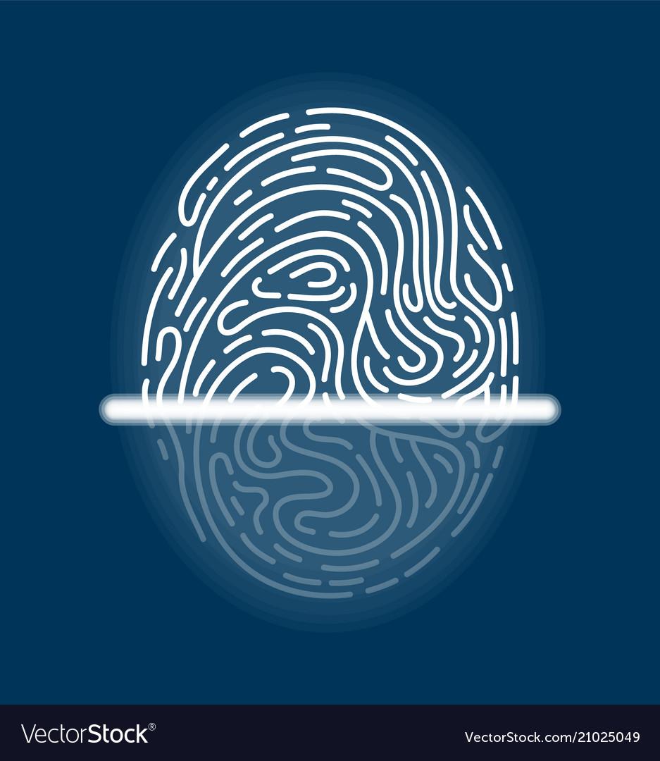 Laser scanning of fingerprint futuristic