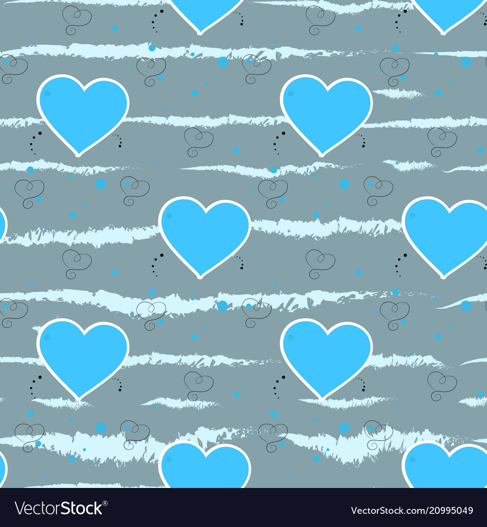 Light blue hearts on a grey background heart