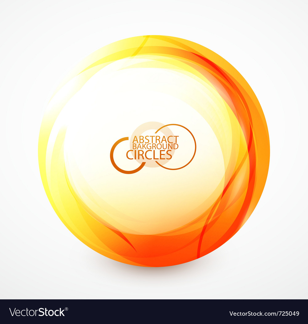 Orange sphere vector image