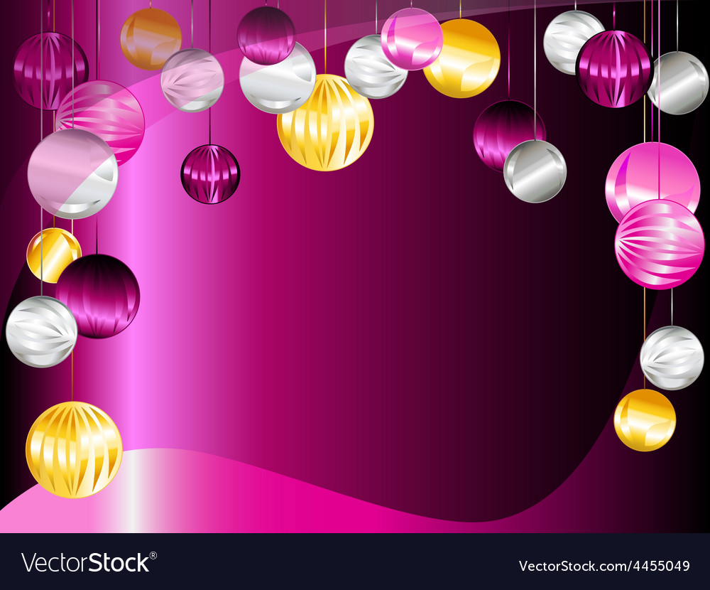 Christmas Ornament Background.Pink And Purple Christmas Ornament Background