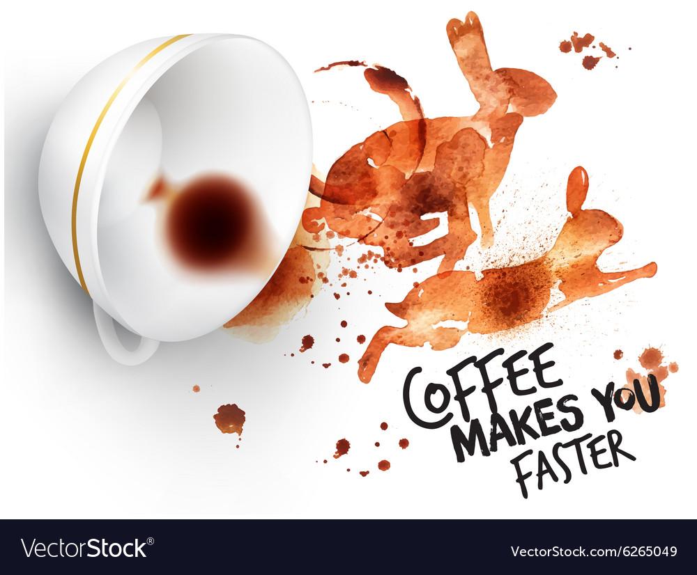 Poster wild coffee rabbit