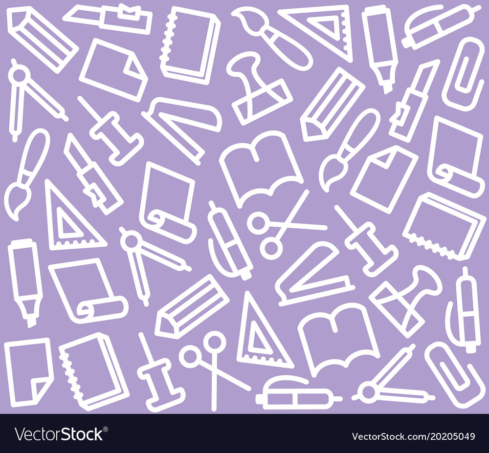 Seamless background with stationery