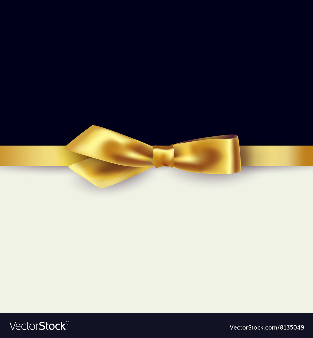 Shiny gold satin ribbon
