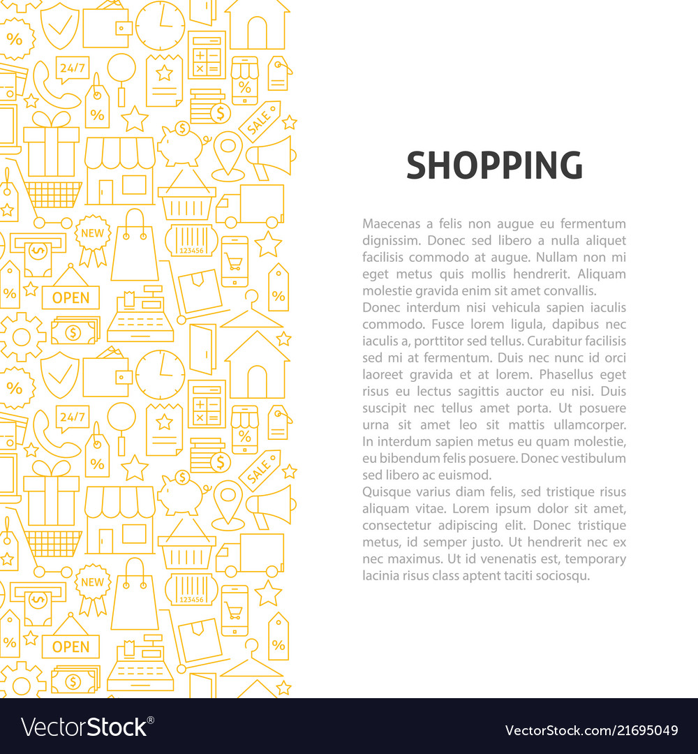 Shopping line pattern concept