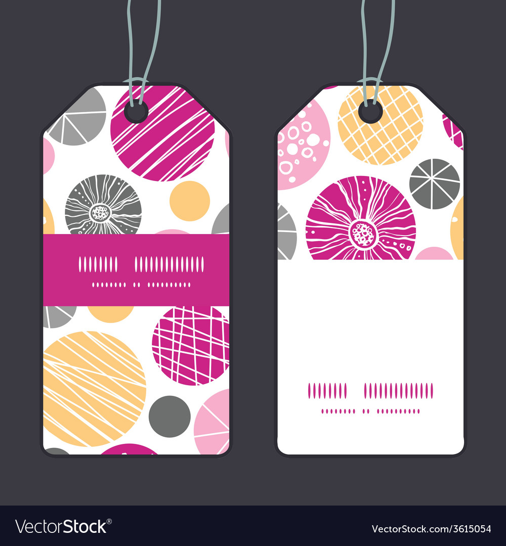 Abstract textured bubbles vertical stripe frame