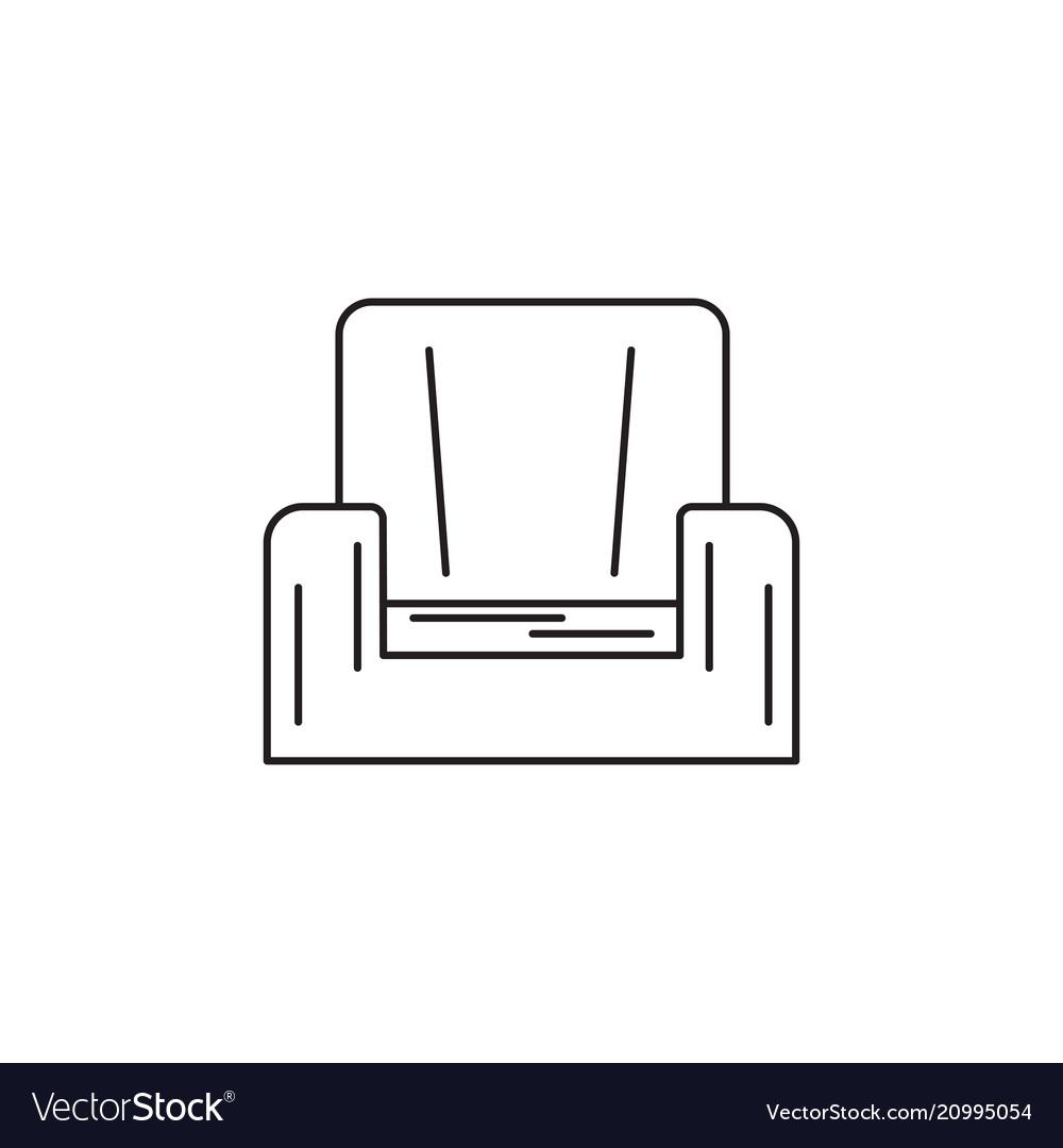 Armchair line icon
